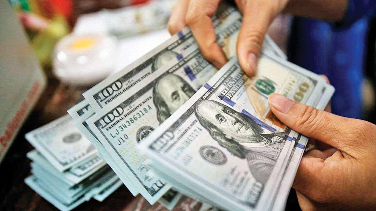 A hand holding a money